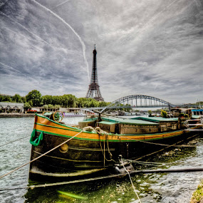 Boat on the Seine by Paul Cowell - Landscapes Travel