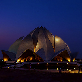Bahai Temple by Debasis Banerjee - Buildings & Architecture Places of Worship ( temple, place of worship, bahai temple, delhi )
