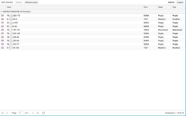 Proxy management tool