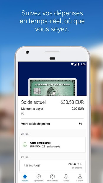 Amex France Android App Screenshot