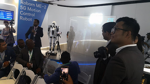 MTN and ZTE unveiled a 5G motion-controlled robot and orchestrated a live interview via hologram.