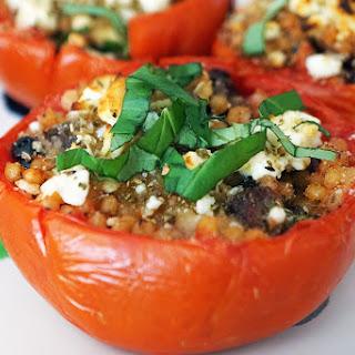 Mediterranean Inspired Stuffed Tomatoes.