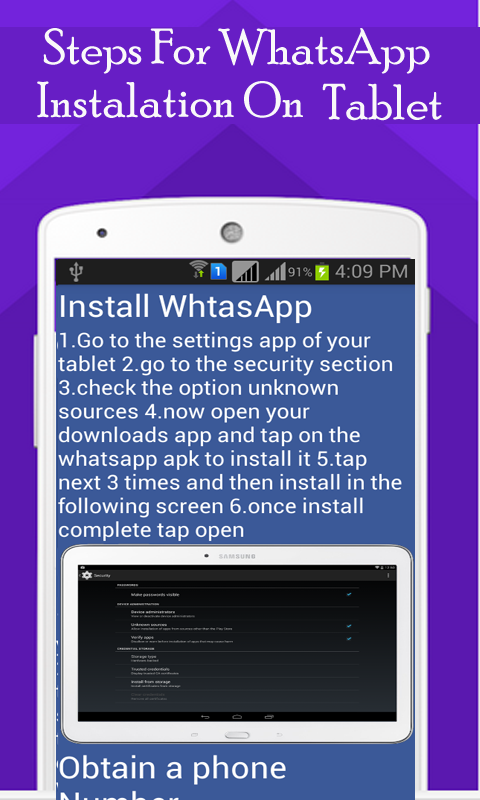 Screenshots of Install WhatsApp On All Device for Android