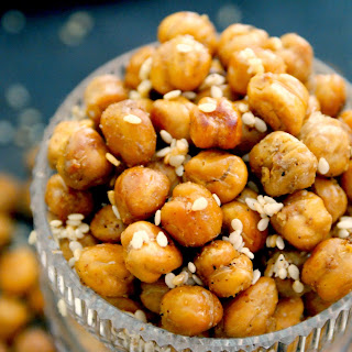 Sesame Garlic Roasted Chickpeas.