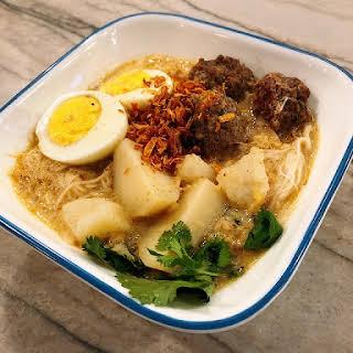 Thai Coconut Curry Noodle Soup.