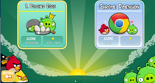 Angry Birds - Chrome aplication game