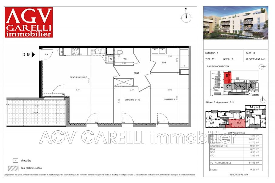 Vente appartement 3 pièces 61.53 m² à La Seyne-sur-Mer (83500), 245 000 €