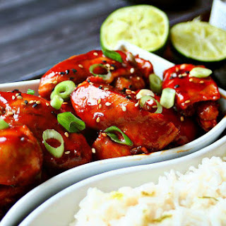 Sriracha Chicken with Coconut Lime Rice