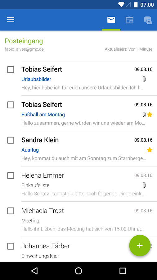 GMX Mail – Screenshot