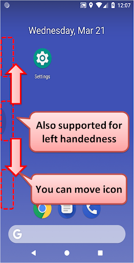 One Hand Operation Support (Free) screenshots 8