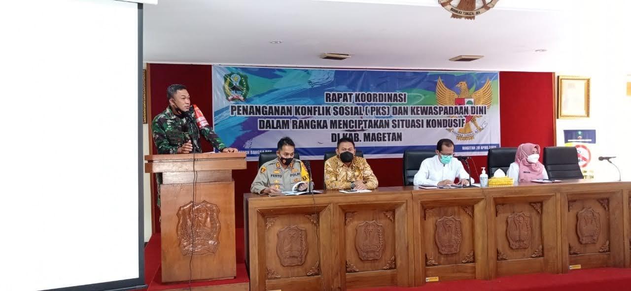 Rakor PKS dan Kewaspadaan Dini Demi Menciptakan Situasi Kondusif Di Kabupaten Magetan