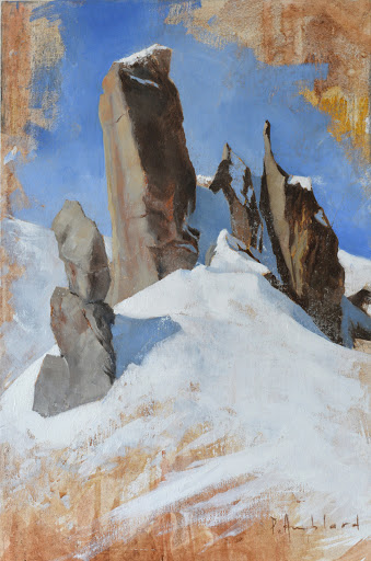 Pointes des Cosmiques. oil on panel ,45x31cm