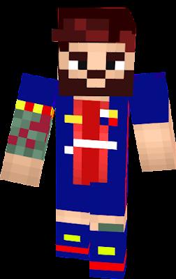 Lionel Messi Nova Skin - Skin para minecraft pe de messi