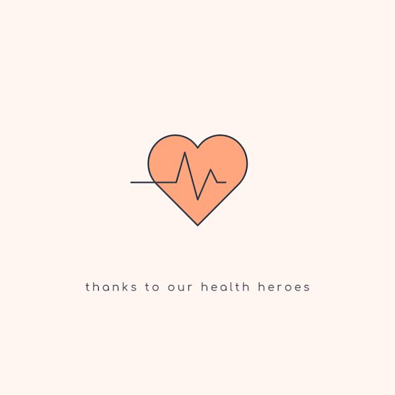Thanks to Our Health Heroes - Instagram Post Template