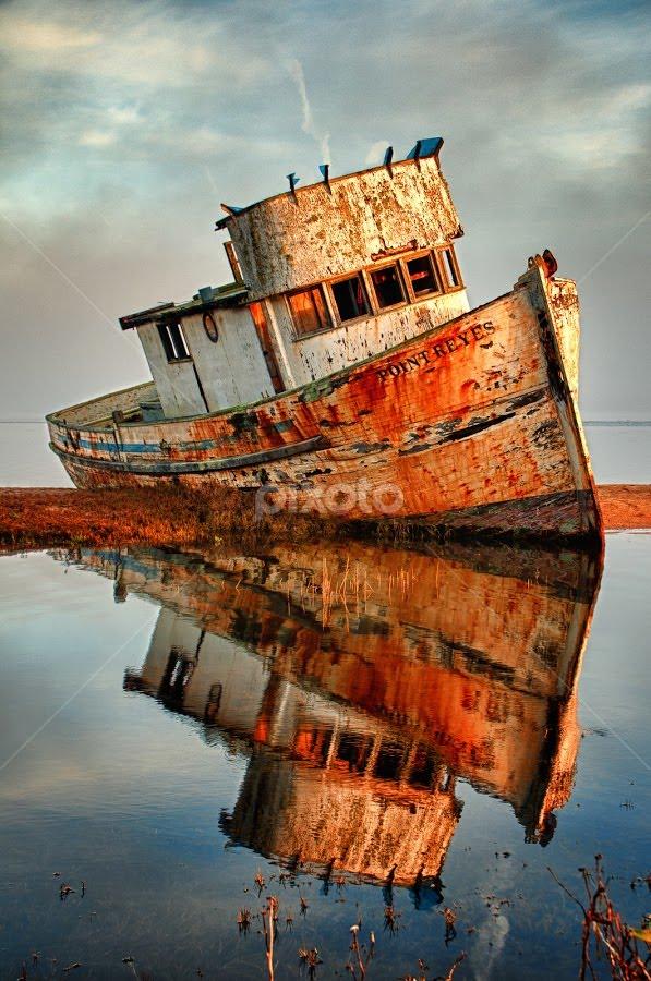 The Old Point Reyes by John Klingel - Transportation Boats ( hdr )