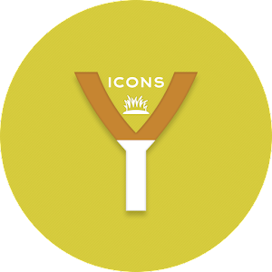 OJ Yellow – Round Icon pack v1.0 APK