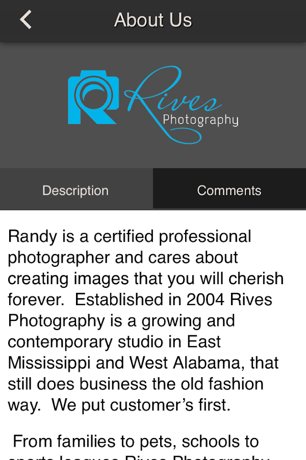 Rives Photography- screenshot