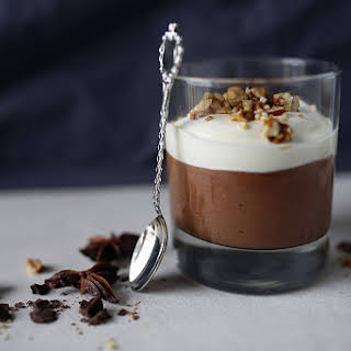 Chocolate Mousse With Coconut Whipped Cream.