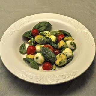 Mini Tomato. Mozzarella and Avocado Salad