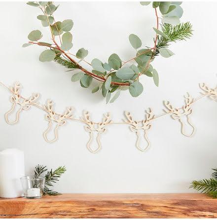 Girlang i trä - Rustic Christmas.