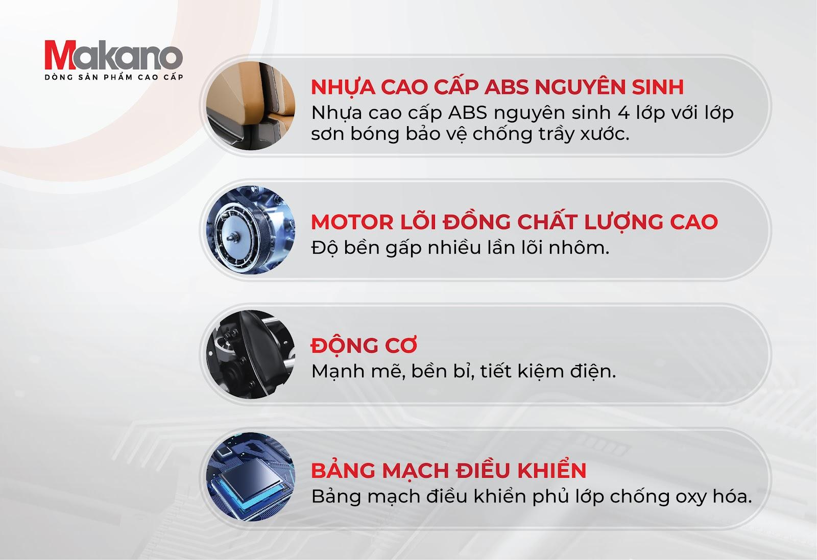 Chất liệu ghế massage MKGM-20002 cao cấp