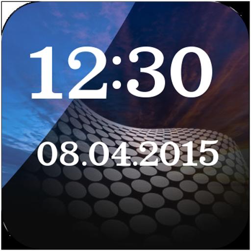 Glass Clock And Weather Widget