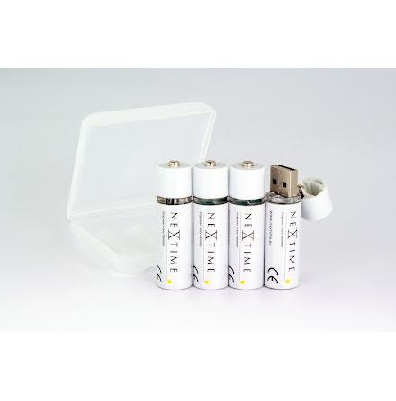 USB Batteri uppladdningsbart 4-pack