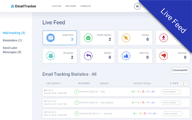 Email Tracking for Gmail