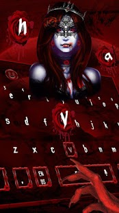 Bloody Red vampire keyboard Theme - náhled