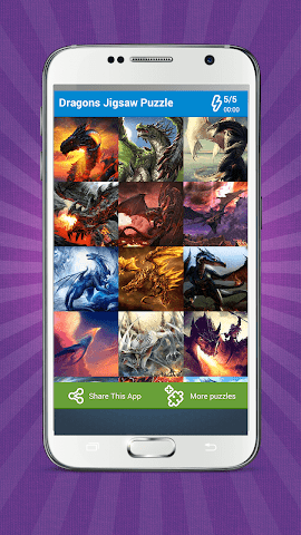 android Dragons Jigsaw Puzzle Screenshot 0