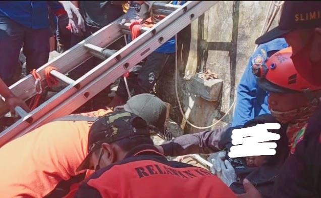 Beginilah Kondisi Tukang Serfis Kulkas Yang Terjebur Sumur di Mojokerto