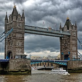 Tower Bridge London by Bob White - Buildings & Architecture Public & Historical ( tower, london, boats, tower bridge, river thames,  )
