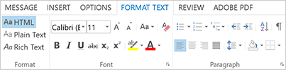 Format text in 2013 version