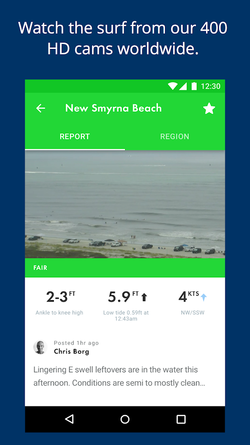 Surfline Surf Cams, Forecasts- screenshot
