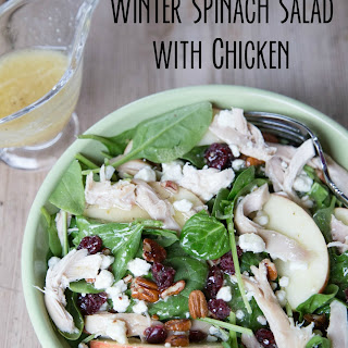 Winter Spinach Salad with Chicken