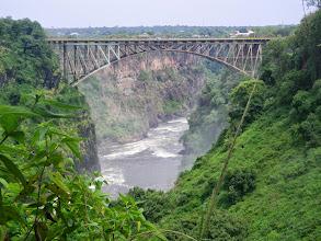 Photo: Bridge with railroad over Chasm