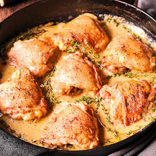 Chicken in Mustard and Wine Sauce.
