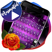 Download Download Digital purple Keyboard Animated Free for android