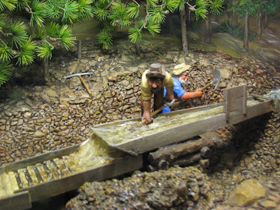 how to make a gold rush diorama