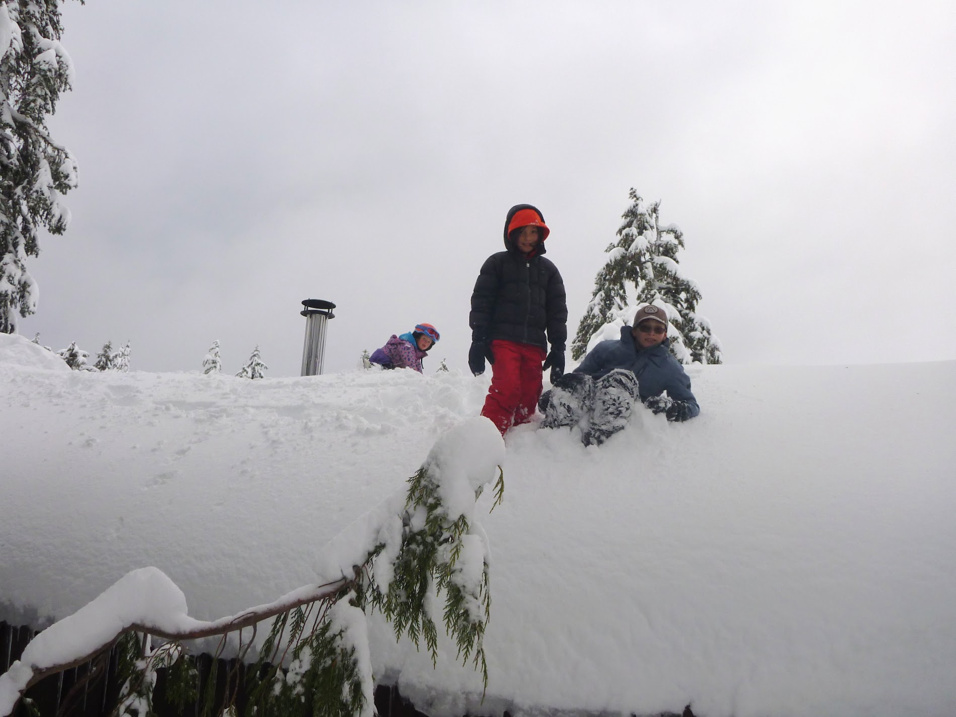 The moment before the cornice fall.