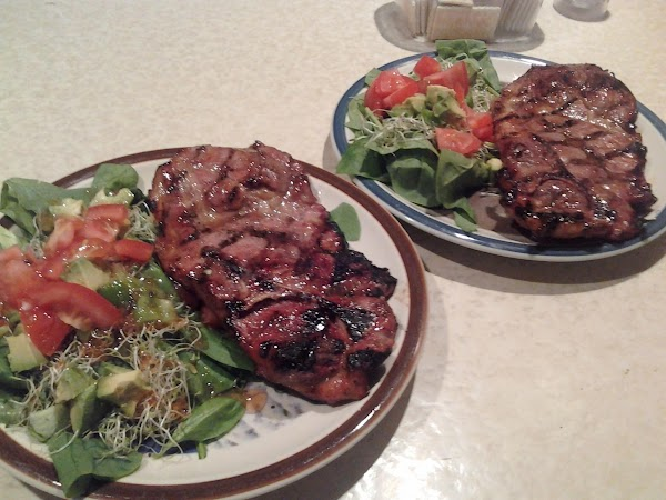 Savory Grilled Pork Steaks And Spinach Salad For Recipe 2
