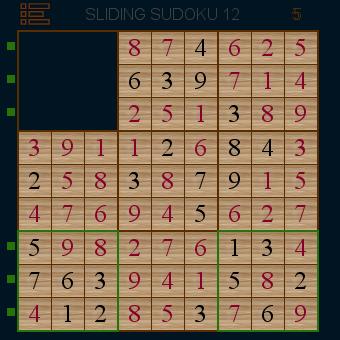 Sliding Sudoku