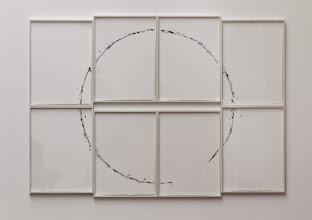 Photo: El intento II (Círculo) 2014 Acrílico sobre ocho hojas de papel de acuarela 172 x 242 cm