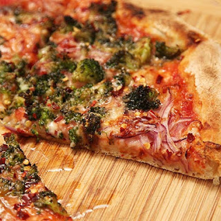Caramelized Broccoli and Red Onion Pizza Recipe