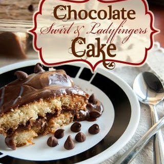 Chocolate Swirl and Ladyfingers Cake