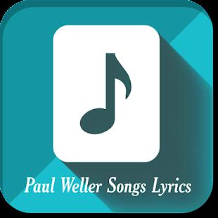 Paul Weller Songs Lyrics - náhled