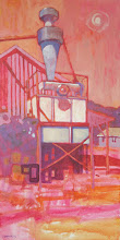 "Photo: ""Byer Road, Byron"", acrylic on canvas 24"" x 12"", © Nancy Roberts"