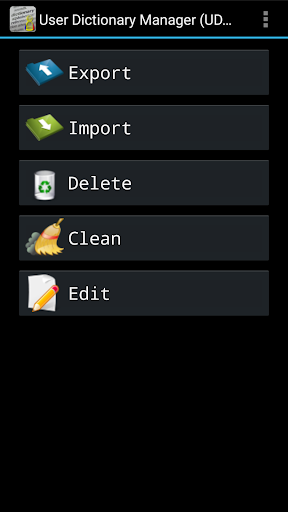 User Dictionary Manager (UDM)  screenshot 1