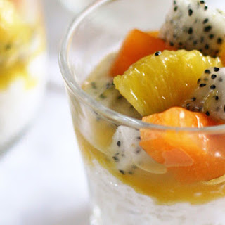 Paleo Fruit and Coconut Milk Chia Seed Pudding.