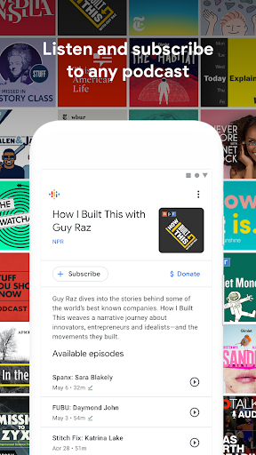 Screenshot for Google Podcasts: Discover free & trending podcasts in United States Play Store